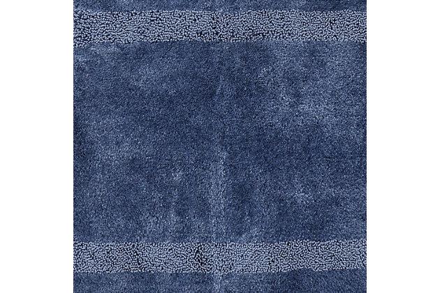 """Mohawk Facet Bath Rug Aqua (1' 8""""x2'), Blue, large"""