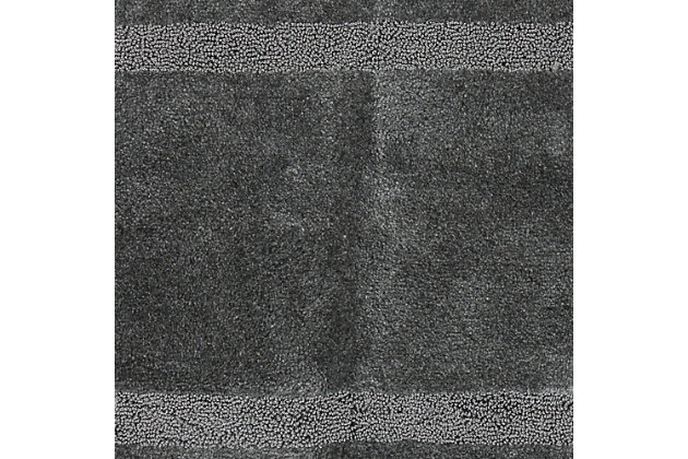 "Mohawk Facet Bath Rug Gray (1' 8""x2' 10""), Black/Gray, large"