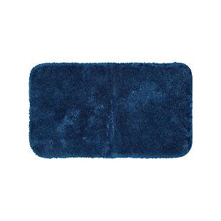 "Mohawk Riverside Bath Rug Dark Aqua (1' 5""x2'), Blue, large"