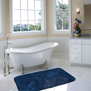 "Mohawk Riverside Bath Rug Dark Aqua (1' 8""x2' 10""), Blue, rollover"