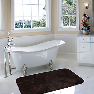 "Mohawk Riverside Bath Rug Dark Brown (1' 5""x2'), Brown/Beige, large"