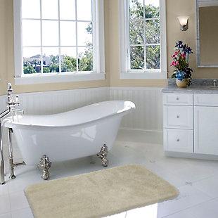 "Mohawk Riverside Bath Rug Double Cream (1' 5""x2'), White, large"