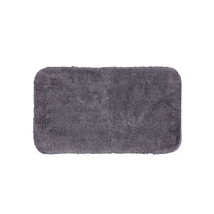 "Mohawk Riverside Bath Rug Black (1' 5""x2'), Black/Gray, large"