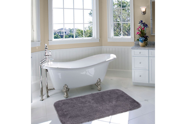 "Mohawk Riverside Bath Rug Black (1' 8""x2' 10""), Black/Gray, large"