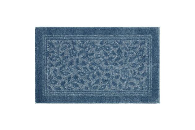 "Mohawk Wellington Blue (2' 6""x4' 2""), Blue, large"