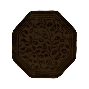 Mohawk Wellington Ivory (4'x4' Octagon), Brown/Beige, large