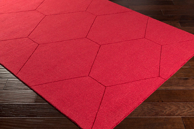 Home Accents Ashlee 2' x 3' Area Rug, Dark Red, large