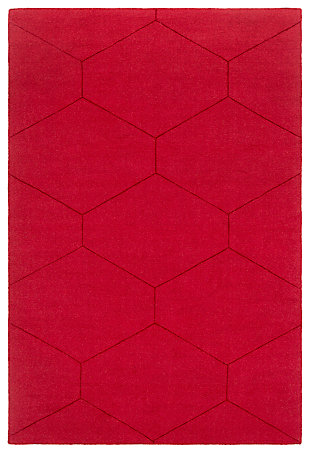"Home Accents Ashlee 5' x 7' 6"" Area Rug, Dark Red, large"