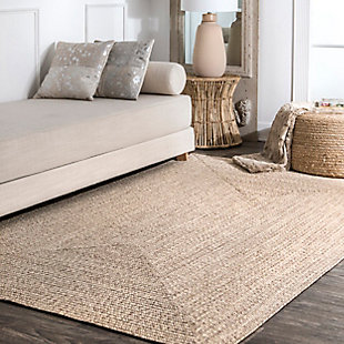 Nuloom Braided Lefebvre Indoor/Outdoor 5' x 8' Area Rug, Tan, rollover