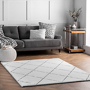 Nuloom Hand Tufted Armitra 5' x 8' Area Rug, Natural, rollover