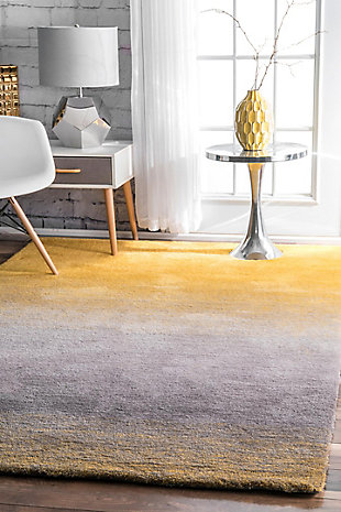 Nuloom Handmade Ombre Shag 5' x 8' Area Rug, Yellow, rollover