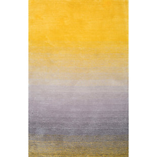 Nuloom Handmade Ombre Shag 5' x 8' Area Rug, Yellow, large