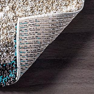Nuloom Hand Tufted Classie Shag 5' x 8' Area Rug, Blue Multi, large