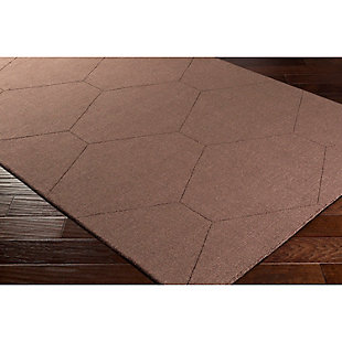 "Home Accents Ashlee 5' x 7' 6"" Area Rug, Dark Brown, rollover"