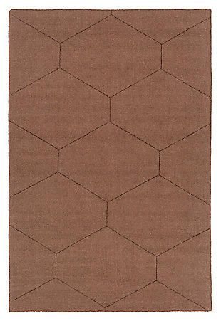 Home Accents Ashlee 8' x 10' Area Rug, Dark Brown, large
