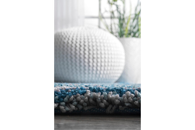 Nuloom Hand Tufted Classie Shag 5' x 8' Area Rug, Sky Blue, large