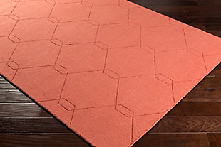 Home Accents Ashlee 2' x 3' Area Rug, Burnt Orange, rollover