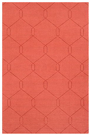 Home Accents Ashlee 2' x 3' Area Rug, Burnt Orange, large