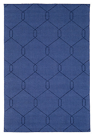 "Home Accents Ashlee 5' x 7' 6"" Area Rug, Dark Blue, large"