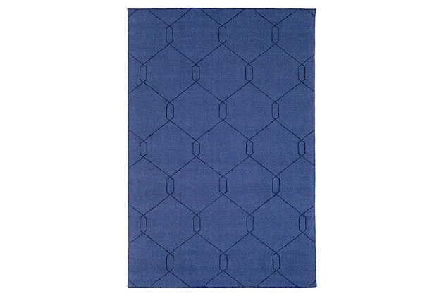 Home Accents Ashlee 2' x 3' Area Rug, Dark Blue, large