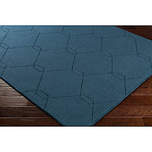 "Home Accents Ashlee 5' x 7' 6"" Area Rug, Teal, rollover"