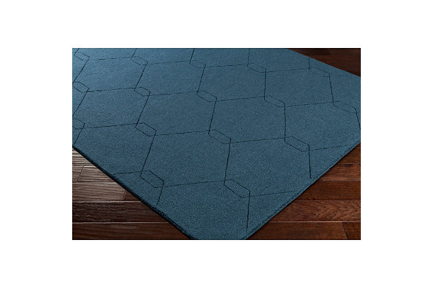 Home Accents Ashlee 2' x 3' Area Rug, Teal, large