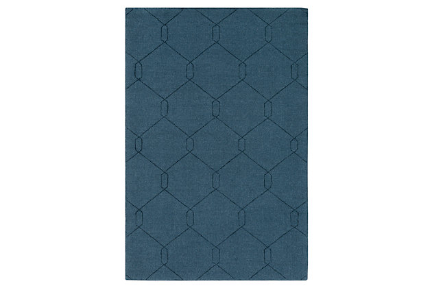 "Home Accents Ashlee 5' x 7' 6"" Area Rug, Teal, large"