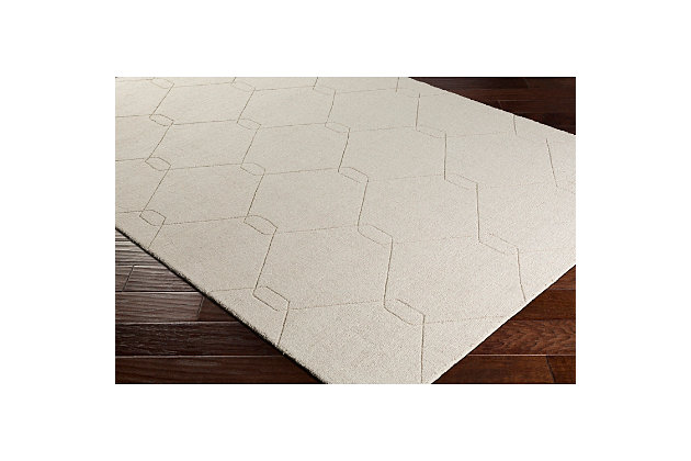 "Home Accents Ashlee 5' x 7' 6"" Area Rug, Ivory, large"