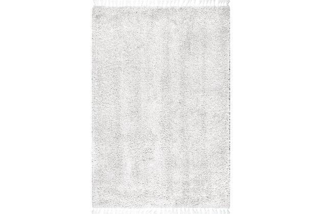 "Nuloom Casual Plush Shag 5' 3"" x 7' 7"" Area Rug, Ivory, large"