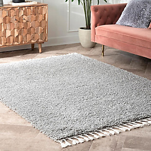 "Nuloom Casual Plush Shag 5' 3"" x 7' 7"" Area Rug, Gray, rollover"