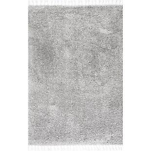 "Nuloom Casual Plush Shag 5' 3"" x 7' 7"" Area Rug, Gray, large"
