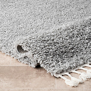 "Nuloom Casual Plush Shag 5' 3"" x 7' 7"" Area Rug, Gray, large"