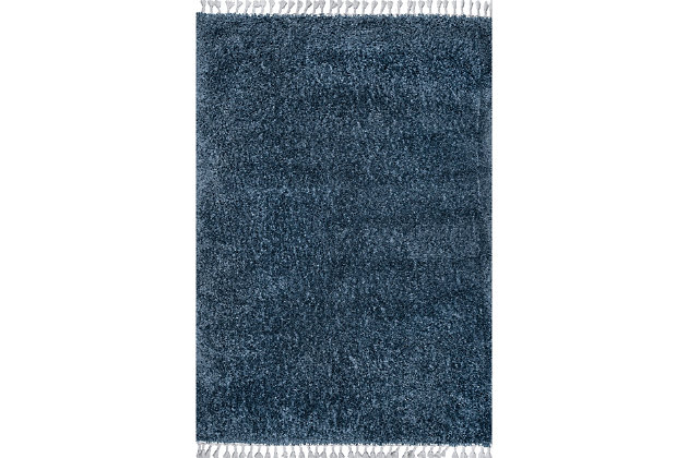 "Nuloom Casual Plush Shag 5' 3"" x 7' 7"" Area Rug, Blue, large"
