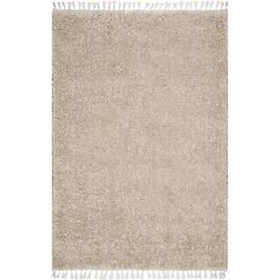 "Nuloom Casual Plush Shag 5' 3"" x 7' 7"" Area Rug, Beige, large"