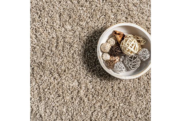 "Nuloom Casual Plush Shag 5' 3"" x 7' 7"" Area Rug, Beige, large"