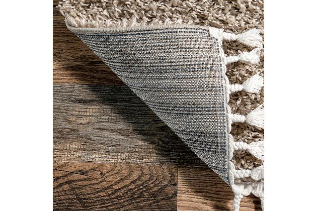 "Nuloom Casual Plush Shag 6' 7"" x 9' Area Rug, Beige, large"