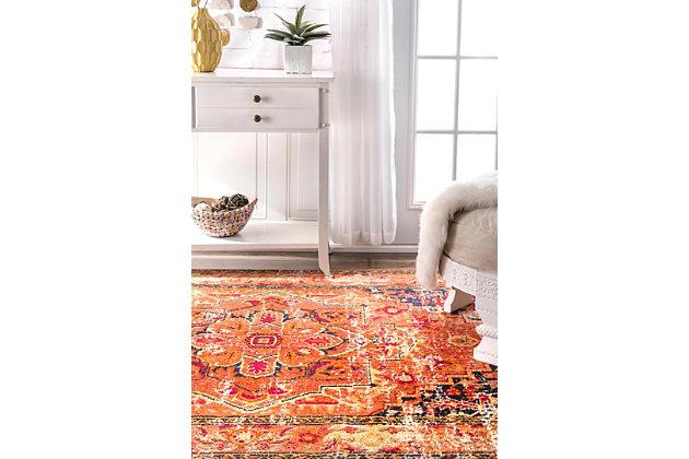 Nuloom Vintage Mackenzie 3' x 5' Area Rug, Orange, large