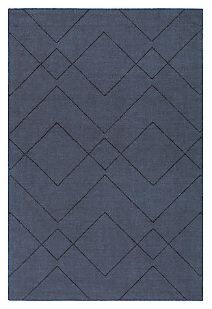 Home Accents Ashlee 2' x 3' Area Rug, Denim, large