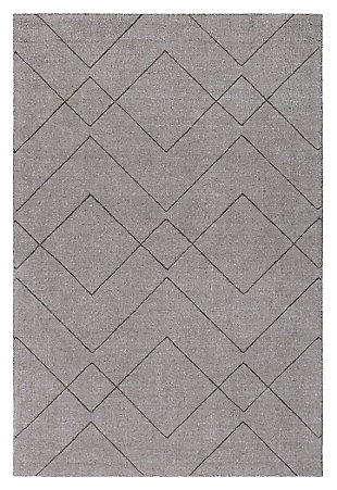 Home Accents Ashlee 2' x 3' Area Rug, Gray, large