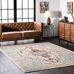 "Nuloom Distressed Persian Sarita 5' 3"" x 7' 7"" Area Rug, Gray, rollover"