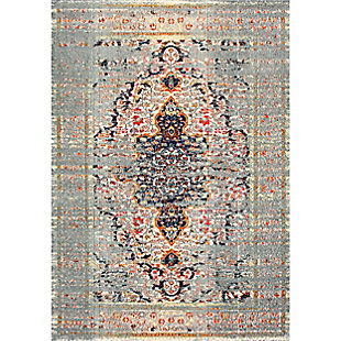 "Nuloom Distressed Persian Sarita 5' 3"" x 7' 7"" Area Rug, Gray, large"