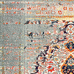 "Nuloom Distressed Persian Sarita 5' 3"" x 7' 7"" Area Rug, Gray, large"