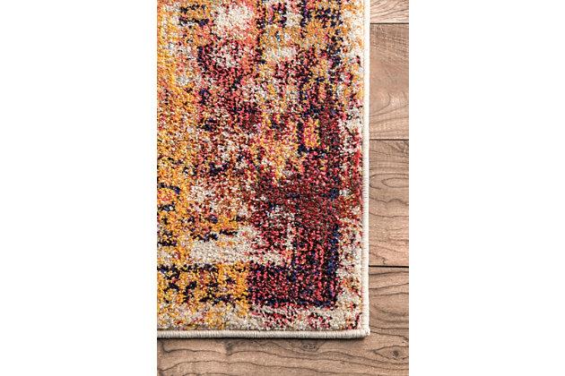 """Nuloom Vintage Medallion Veronica 5' 3"""" x 7' 7"""" Area Rug, Rust, large"""