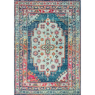"Nuloom Vintage Brielle 5' 3"" x 7' 7"" Area Rug, Blue, large"