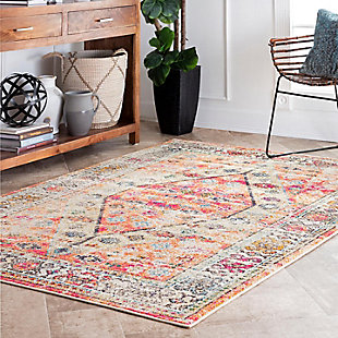 "Nuloom Vintage Elenor 5' 3"" x 7' 7"" Area Rug, Orange, rollover"