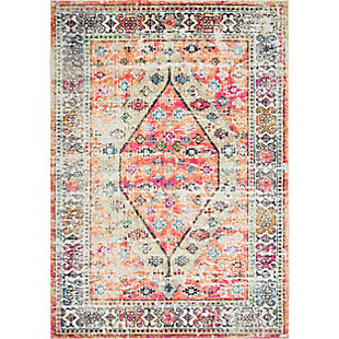 "Nuloom Vintage Elenor 5' 3"" x 7' 7"" Area Rug, Orange, large"