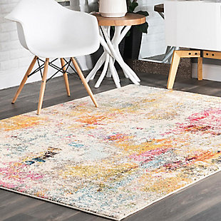 "Nuloom Modern Watercolor 5' 3"" x 7' 7"" Area Rug, Multi, rollover"