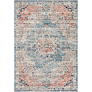 "Nuloom Sawyer Flourishing Medallion 5' 3"" x 7' 3"" Area Rug, Multi, large"