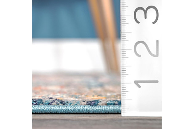 "Nuloom Sawyer Flourishing Medallion 5' 3"" x 7' 3"" Area Rug, Multi, large"