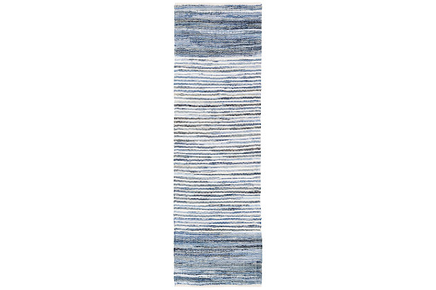 "Home Accents Denim 2' 6"" x 8' Runner, Blue, large"